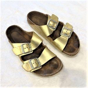 Birkenstock   Metallic Gold Arizona Sandals Sz 40
